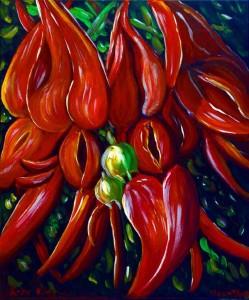 Kaka Beak Flowers, helenblairsart