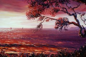 Red sunrise, helenblairsart