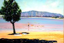 Tiarua Beach, helenblairsart