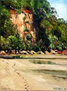 Footprints in the Sand, helenblairsart