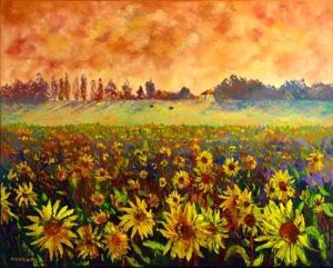 Sunflower Field, helenblairsart