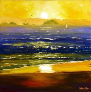 Beach Sunrise, helenblairsart