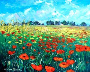Poppys Tuscany, helenblairsart