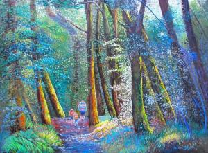 helenblairsart, Beech Forest walk