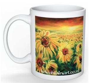 Sunflowers Mug, helenblairart