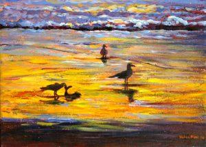 Sunset Beach, helenblairsart