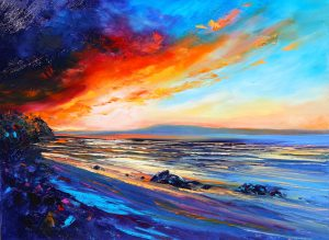 Red Sky Beach, helenblairsart