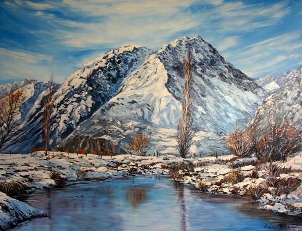 Mt Cook winter, helenblairsart