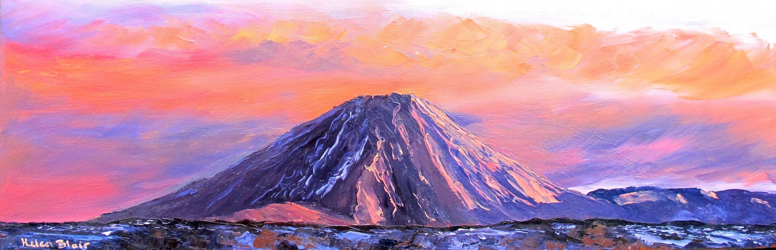 Mt Ngauruhoe, helenblairsart