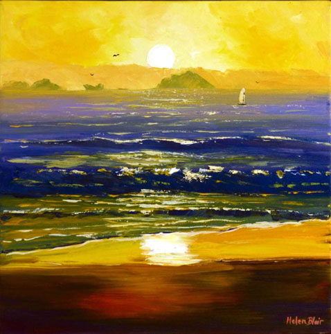 Beach Sunrise, helenblairsart