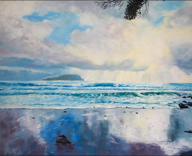 Beach reflections, helenblairsart