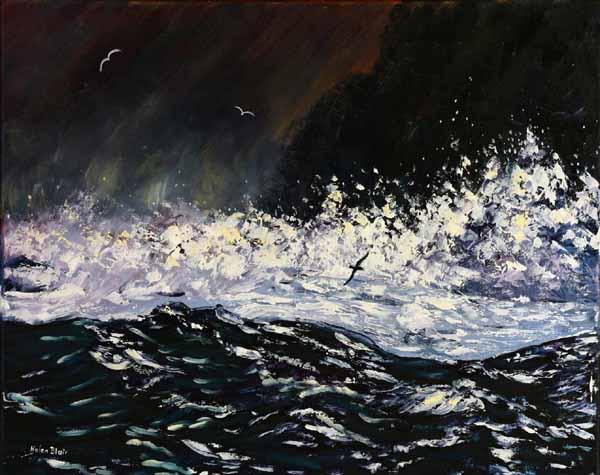 Stormy Seas, helenblairsart