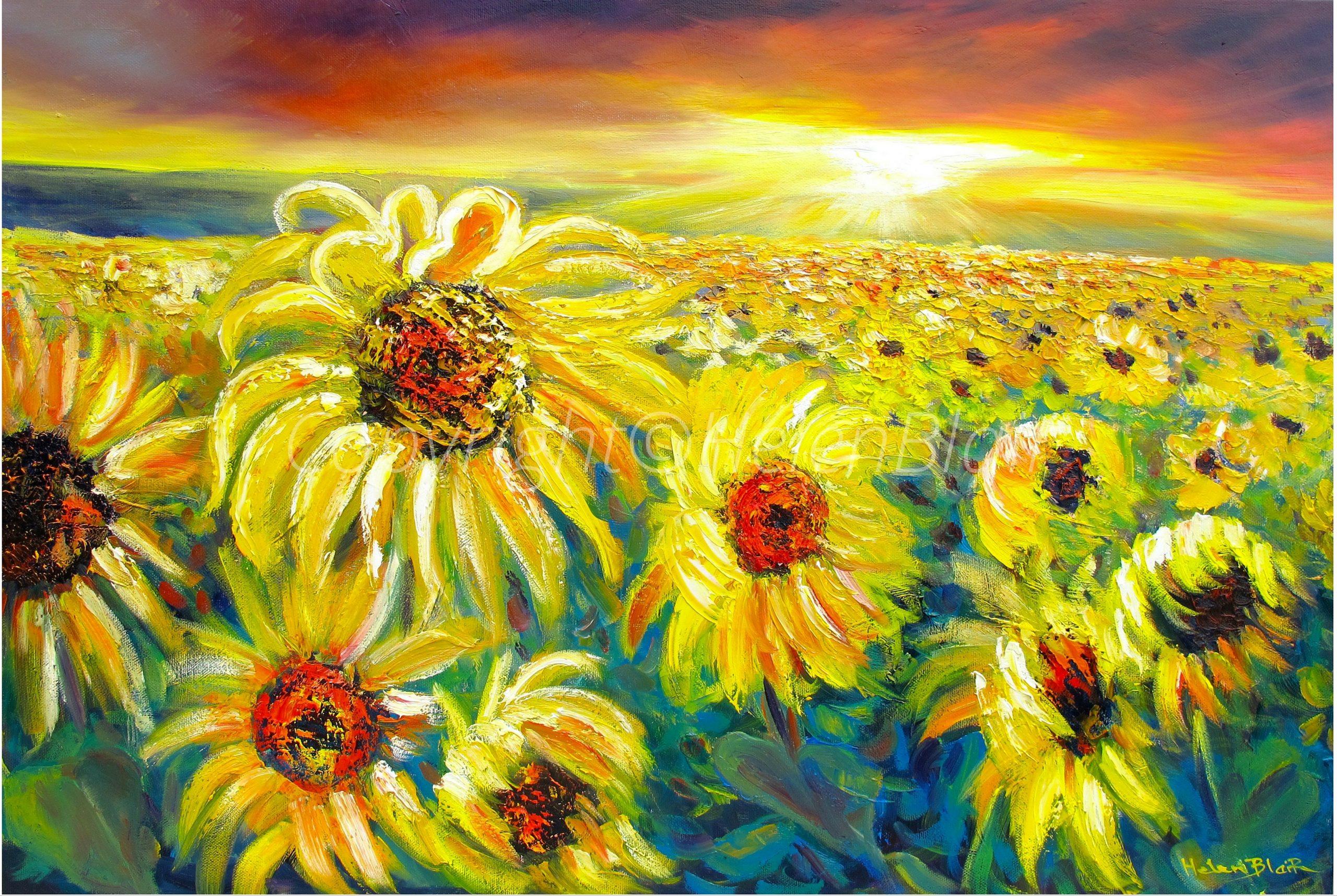 Copyright©HelenBlairsart, Sunflowers