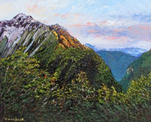 Sunlit Mountain, helenblairsart