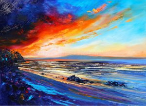 Red Sky Beach, helenblairsart