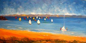 helensblairsart, Sailing - card