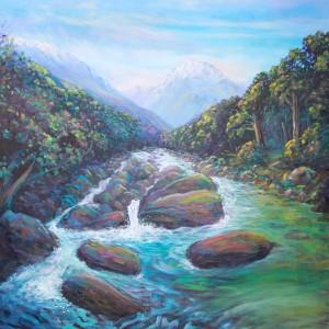 helenblairsart, Mountain Stream