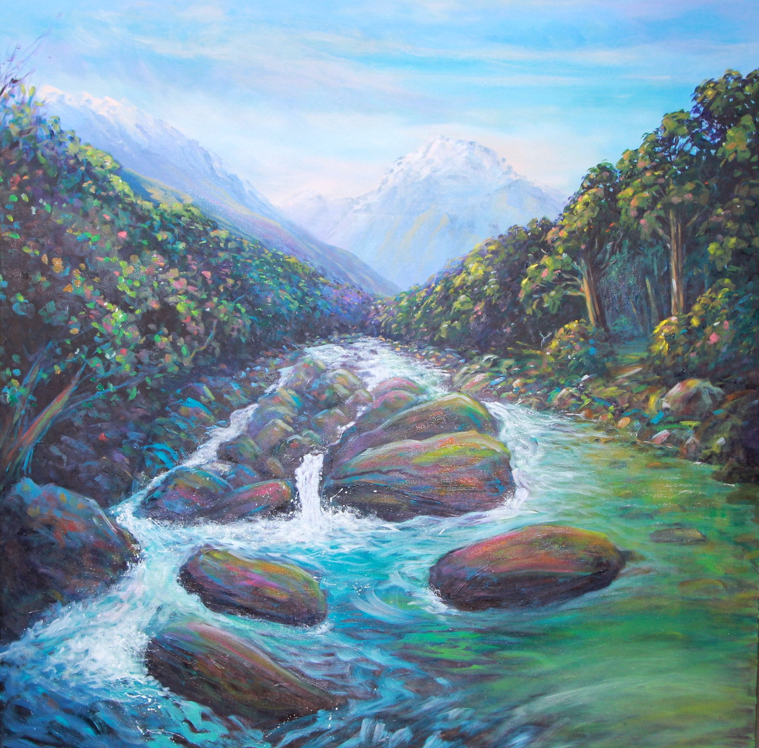 helenblairsart, Mountain Stream