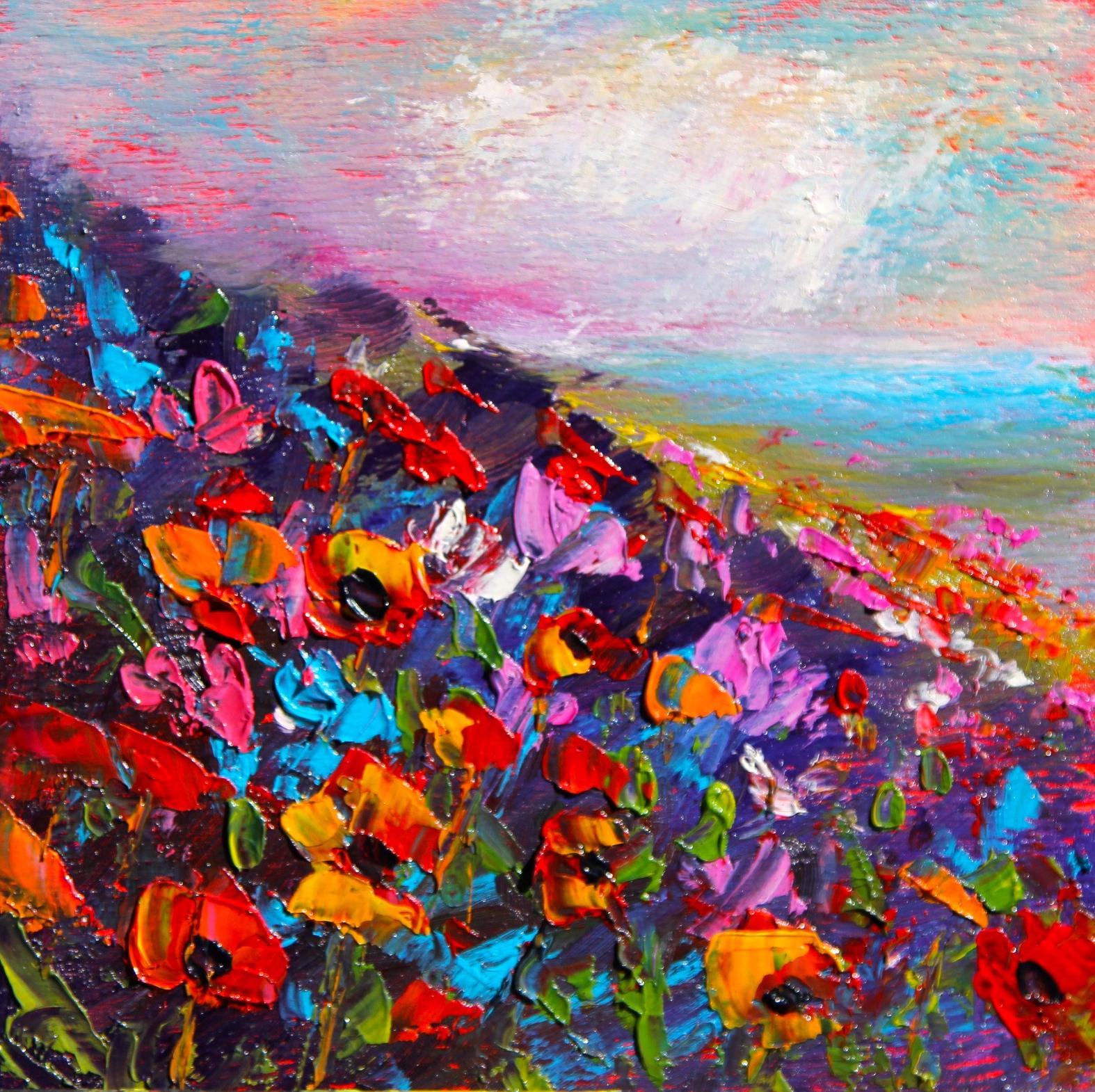 Wild flower Field, helenblairsart