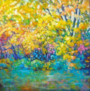 Autumn River Reflections print