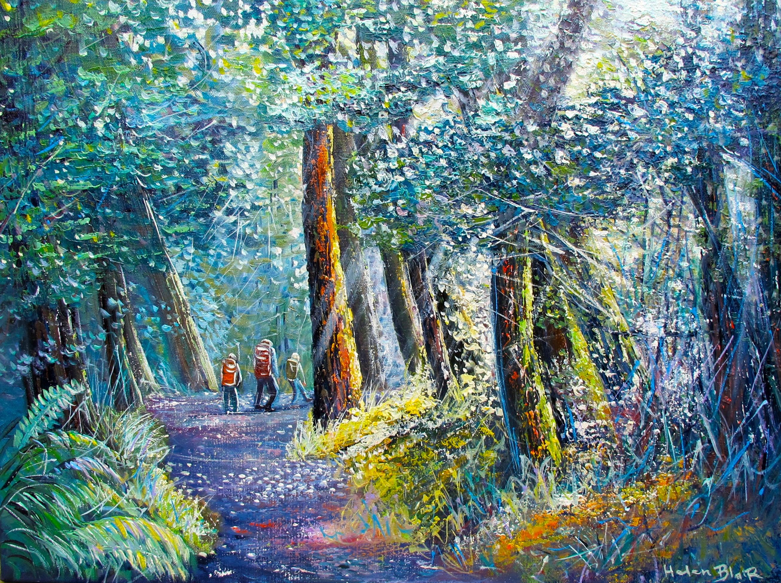 helenblairsart- Bush Treck - Canvas print