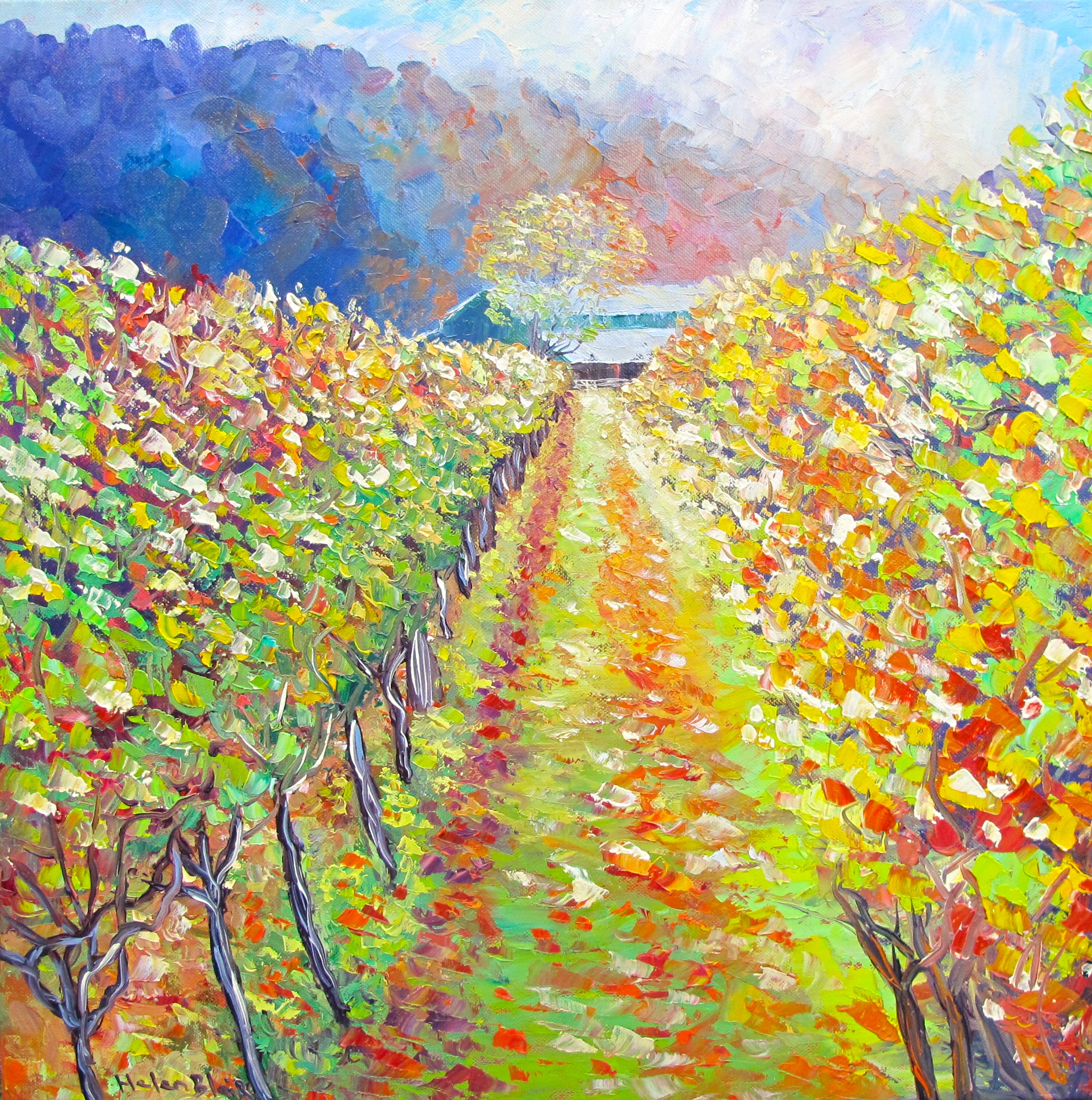 Autumn Vineyard, helenblairsart