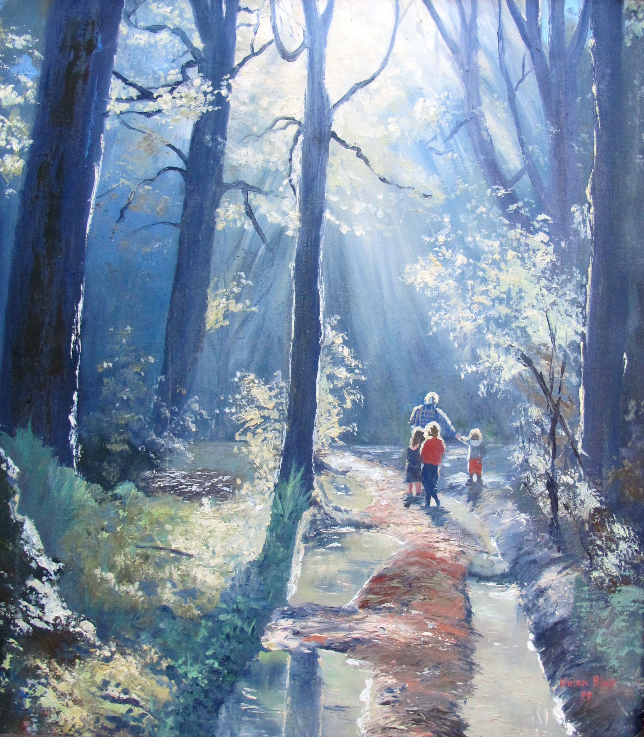 Bush Walk, helenblairsart