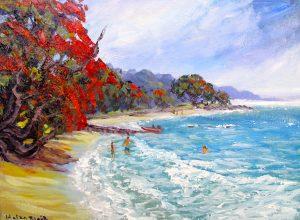 helenblairsart-Pohutukawa Beach