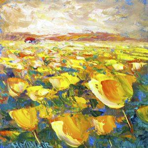 Yellow Tulips, helenblairsart