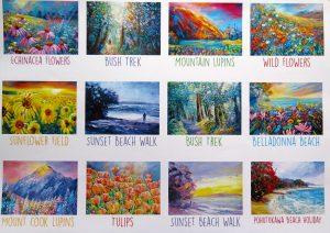 Thumbnails for 2016 Calendar, Helen Blair Art