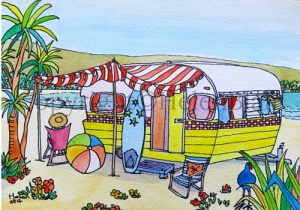 Retro Caravan Card Series, by Helen Blair