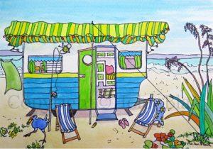 Retro Caravan Card Series, by Helen Blair