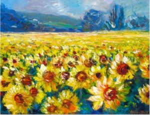 Sunflowerfield, helenblairsart
