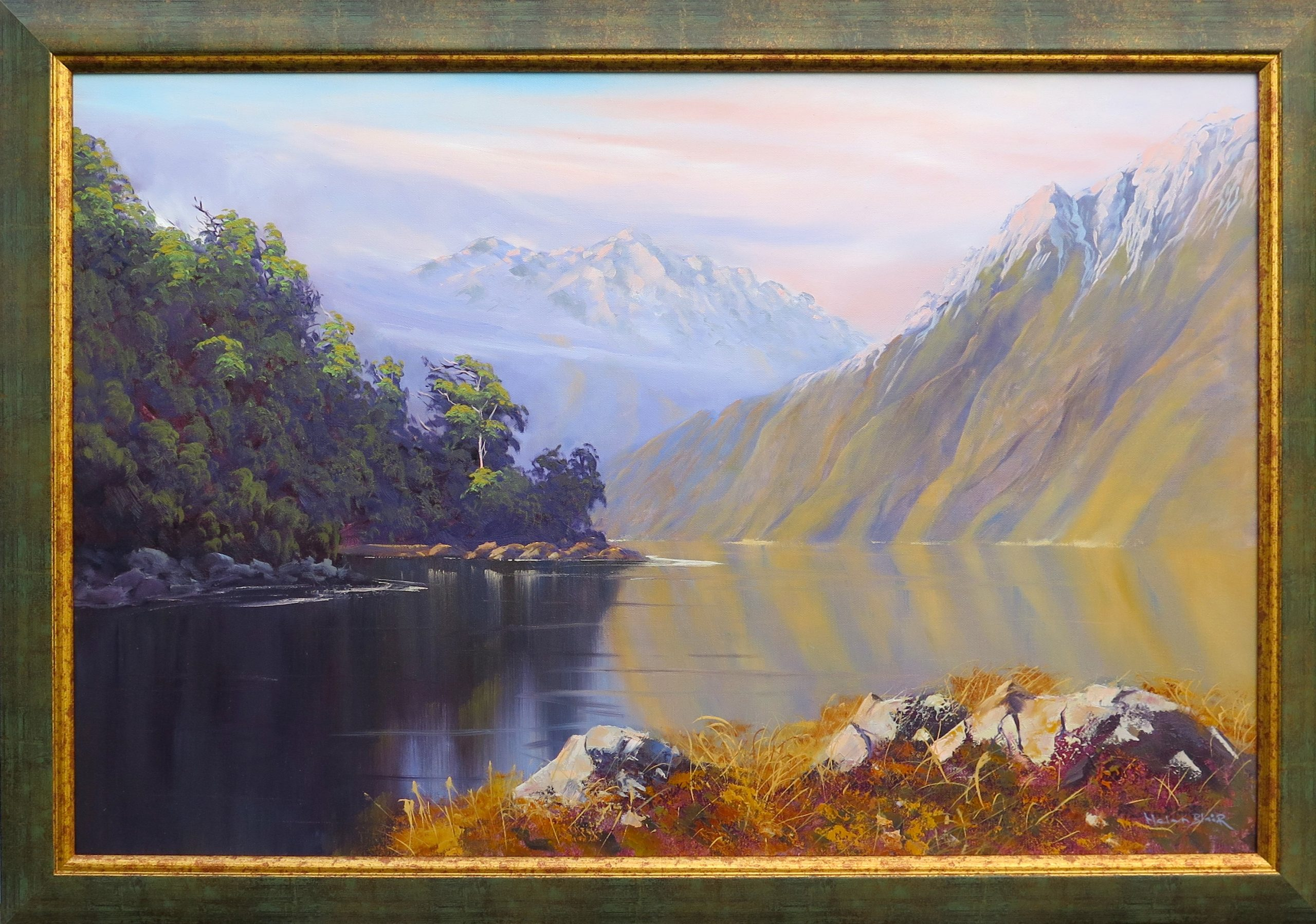 Glenorchy Mountains, by Helen Blair