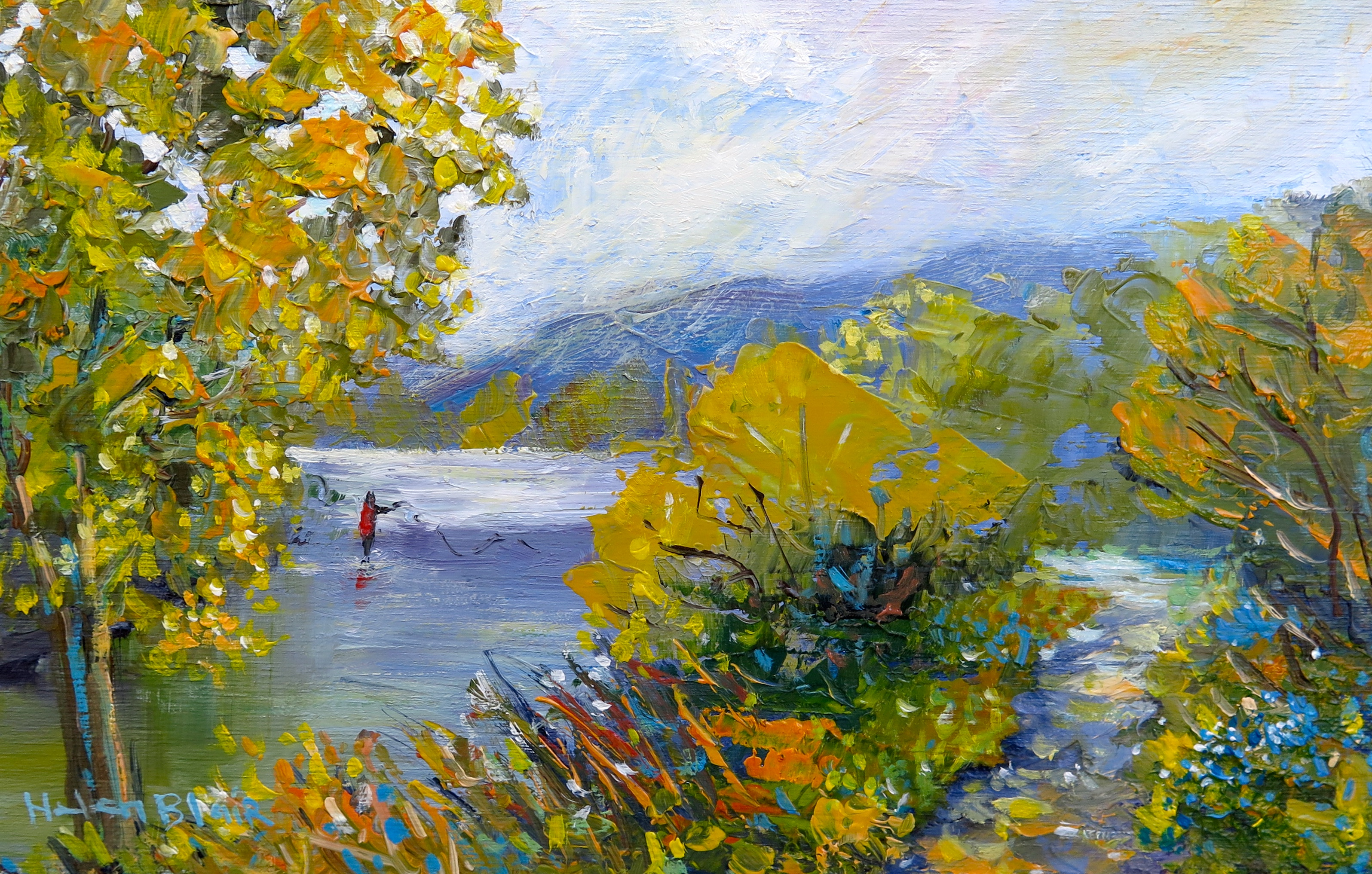 Around the River by Helen Blair Art