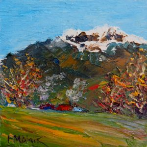 Snow on the Hills, Turangi, by Helen Blair
