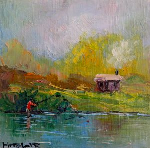 The fishing shack, by Helen Blair