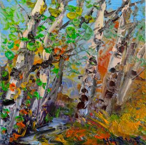 Silver Birch River trail, by Helen Blair