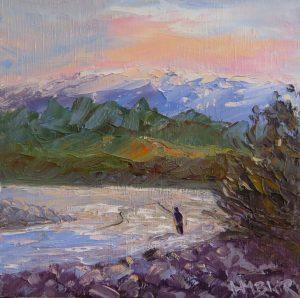 Fishing the River, Turangi, by Helen Blair