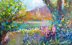 Bluebells & foxgloves River Trail, Turangi, by Helen Blair
