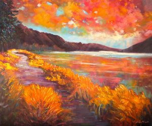 Queenstown Lakeside walk, helenblairsart