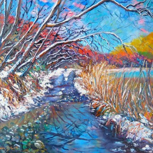Snowy Road, Arrowtown, helenblairsart