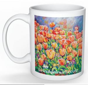Tulips Mug, helenblairart