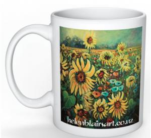 Sunflower Poppies Mug
