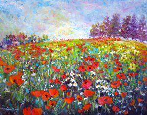 Poppy Field, by helenblairart