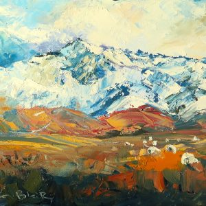 Leaning Rock Mountain, helenblairsart