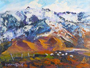 Leaning Rock Mountain, byHelenBlairArt