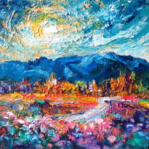 Mountain Sunset by Helen Blair