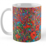 Red Poppies Mug by Helen Blair