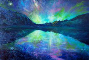 Aurora, Moke Lake by Helen Blair